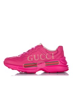 Gucci Rhyton Logo Leather Sneaker Pink
