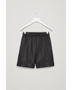 Elastic Waist Shorts Black