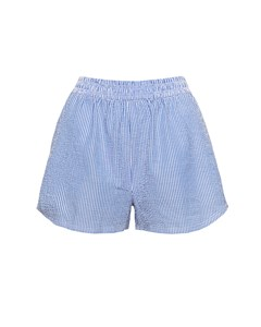 High Waisted Shorts Blue Mix Blue Mix