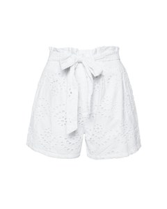 Paper Bag Mini Shorts White