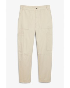 Utility Trousers Barely Beige