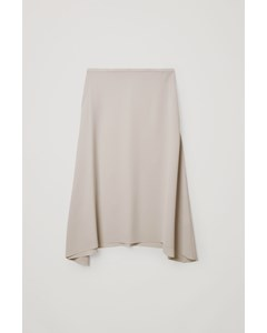 Long Asymmetric Skirt Mole Grey
