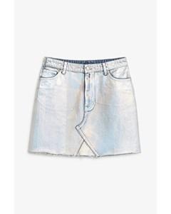 Aria Denim Skirt Silver Silver
