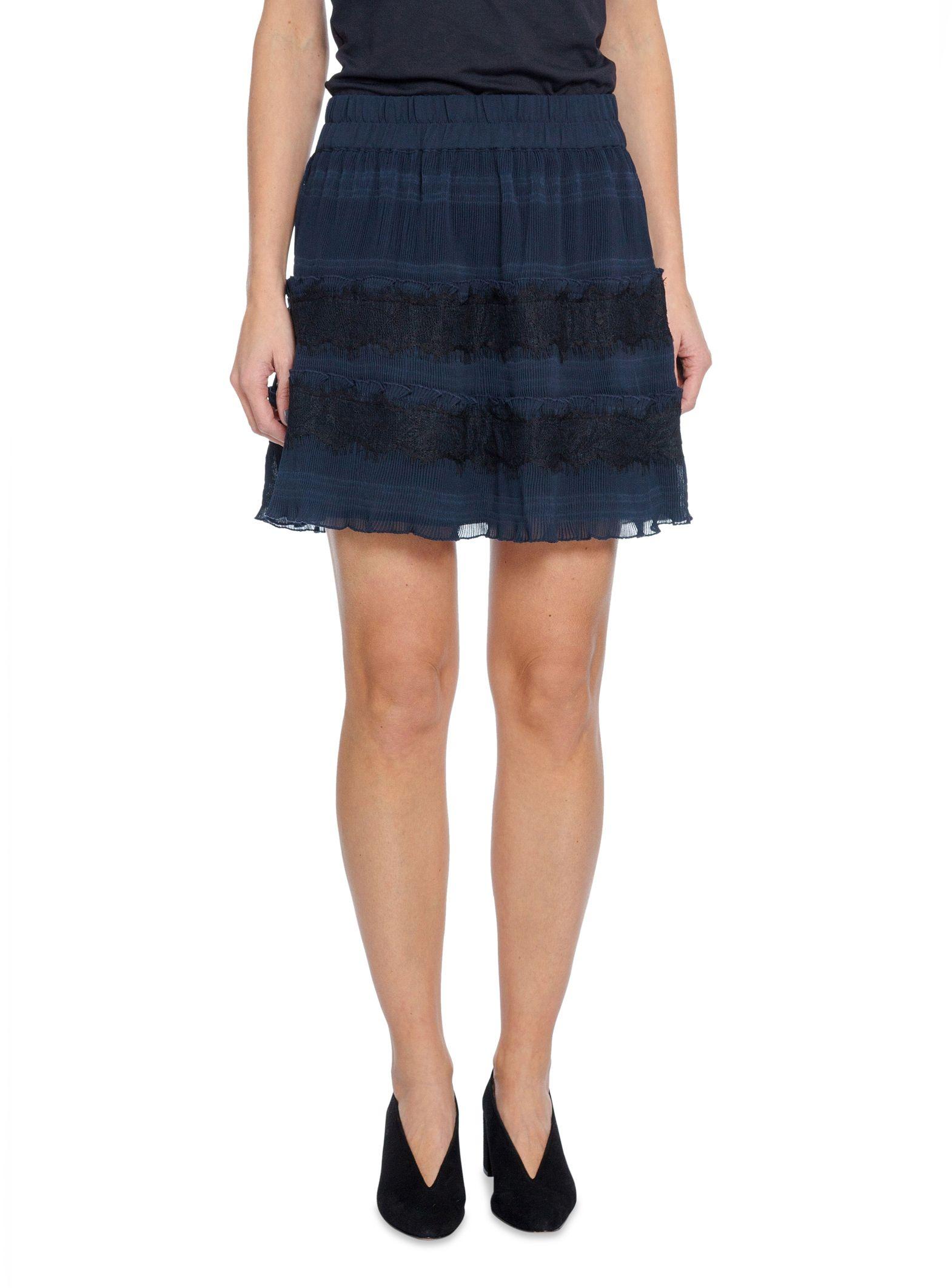 e766ab44 Ganni Skirt Mckinney Pleat Total Eclipse   Shoppa Online   Afound