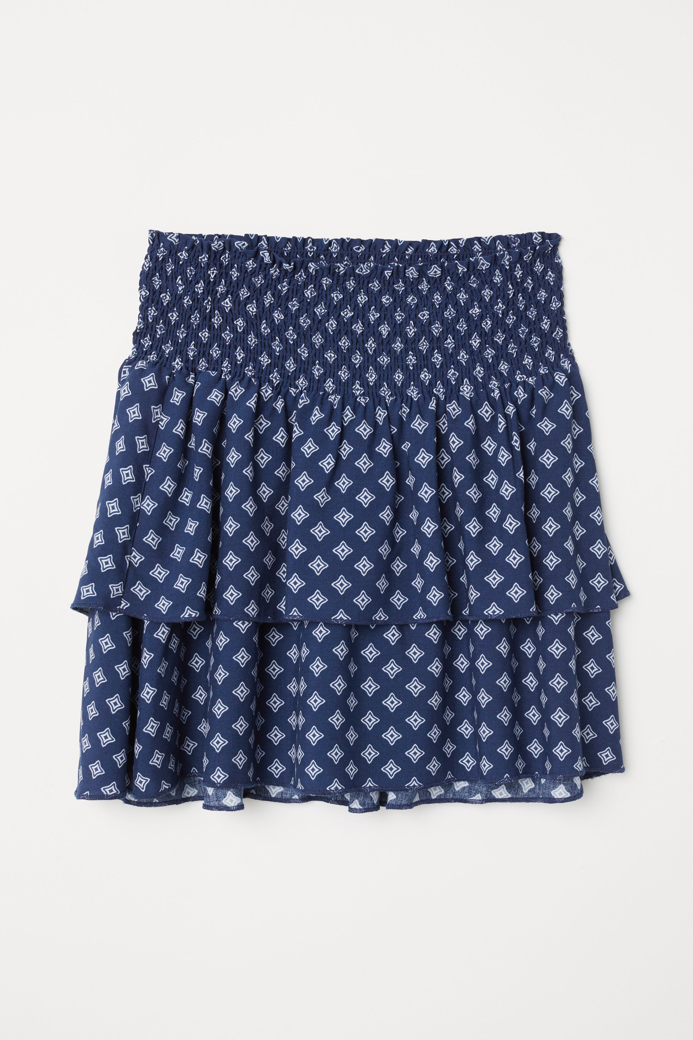 Speed Isabel Skirt Blue - A short skirt in woven quality with printed pattern. The dress has a wide waist band in the waist.