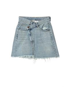 Slant Skirt Hex Blue