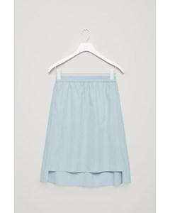 Fine-stripe Skirt Blue