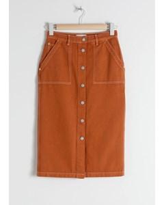 Kite midi rock jeans orange
