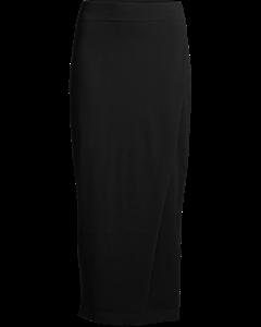 Kit Knit Wrap Skirt- Black