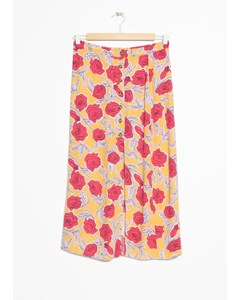 Stina midi-kjol med knappar gul