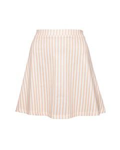 Jersey Mini Skirt Orange Stripe Orange Stripe