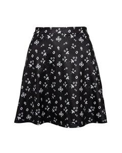 Jersey Mini Skirt Black Florals Black Florals