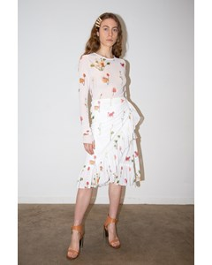 Mellie Skirt Fleures Sauvages Blanc