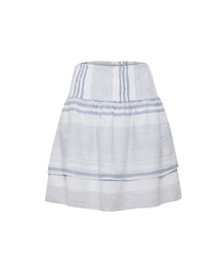 Woven Skirt Above Knee C.blue(s)