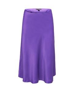 Skirt Light Woven Midi Purple