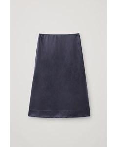 Pa M Delalia Silk Skirt Blue