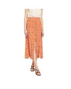 Midi Skirt With Floral Pattern Japoni Japoni - Skirt