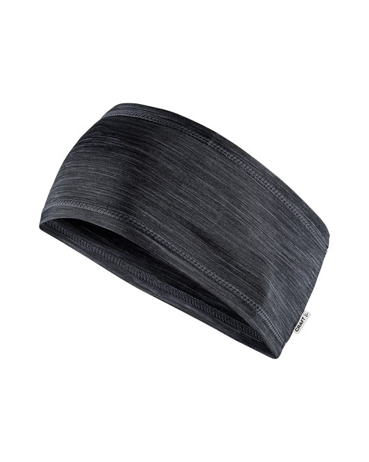 Craft Melange Jersey Headband - Black Melange