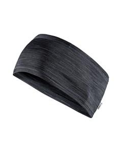 Melange Jersey Headband - Black Melange