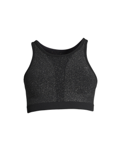 Casall Seamless Sparkle Sports Top Black Sparkle