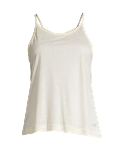 Liquid Tencel Strap Tank Core White