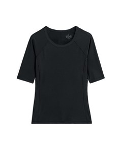 High-shine T-shirt Black