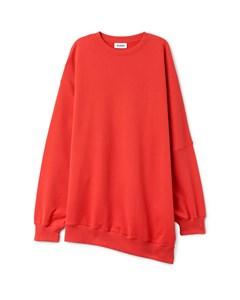 Destructured Sweatshirt Red