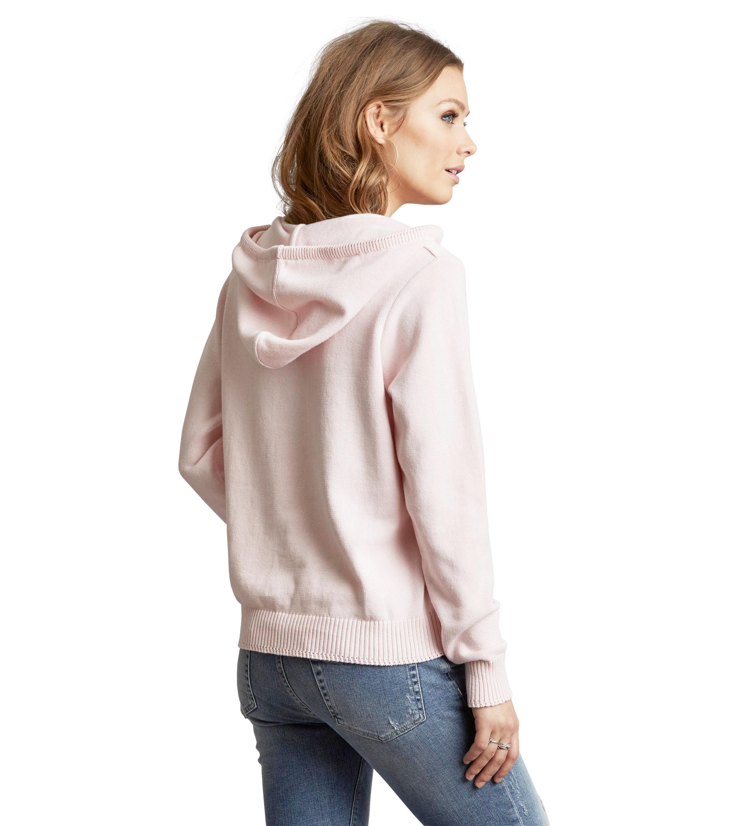 c8ed090895b6 Hey Baby Hood Sweater Rose