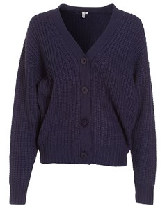 Button Cardigan Knit Navy