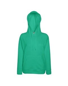 Fruit Of The Loom Ladies Fitted Lightweight Hooded Sweatshirt / Hoodie (240 Gsm)
