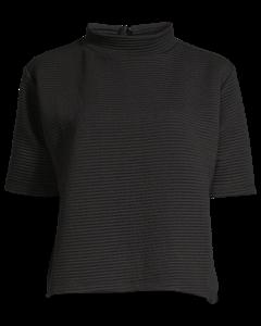 Marin Ottoman Mock Neck Top Black