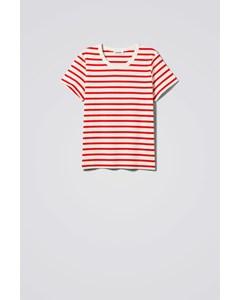 Kate Stripe T-shirt Red