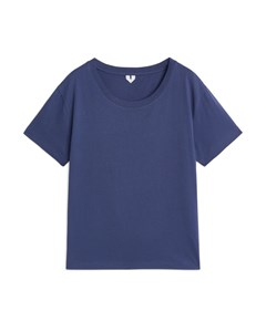 Round-neck T-shirt Blue