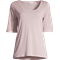 Tencel Scoop Neck Tee Frosty Pink