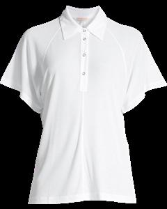 Rib Polo Shirt White