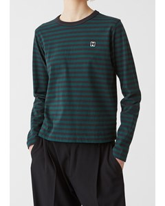 First Ls Tee Deep Green Stripe