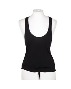 John Richmond Black Racer Back Top With Rhinestones Size 40