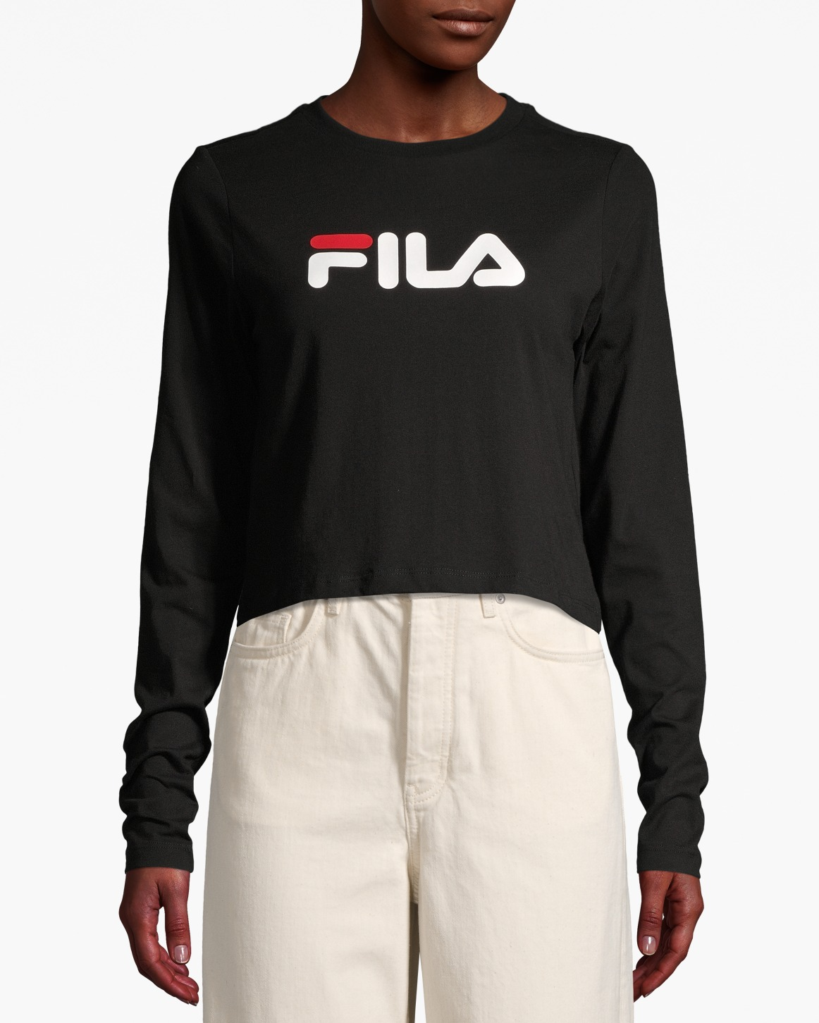 Women Marceline Cropped Ls Shirt Black | Upp till 70