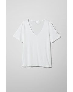 Abby V Neck T-shirt White