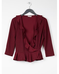 Frill Top Burgundy