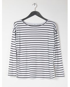Jersey Stripe Top White/navy