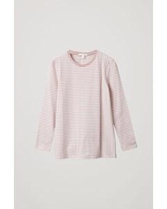 Striped Organic Cotton Top Pink / White