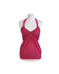 Christian Dior Fuchsia Pink Cotton Halterneck Top Size 42