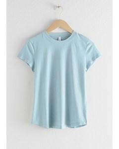 Cotton Blend T-shirt Light Blue