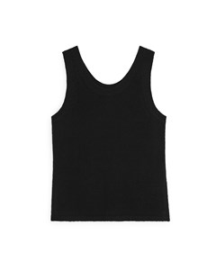 Knitted Tank Top Black