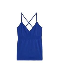 Seamless™ Yoga Cross-back Top Blue