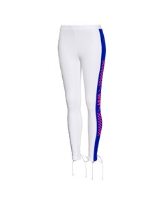 Back Lacing Tights White