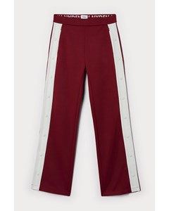 Snap Track Pants Red