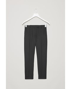 Wool Trousers Black