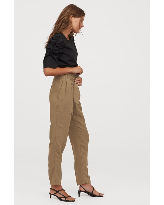 H&M Dak Tapered Trousers Beige